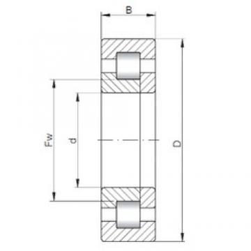 17 mm x 40 mm x 12 mm  ISO NUP203 cylindrical roller bearings