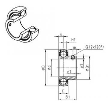SNR US210 deep groove ball bearings