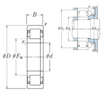 50 mm x 80 mm x 16 mm  NSK NUP1010 cylindrical roller bearings