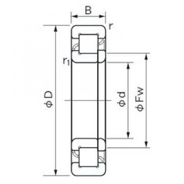 190 mm x 400 mm x 132 mm  NACHI NUP 2338 cylindrical roller bearings